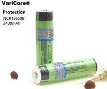 2 PCS/lot Protection contre les varices nouveau Original NCR18650B 18650 batterie Rechargeable li-ion 3400 mAh 3.7 V avec PCB pour lampe de poche