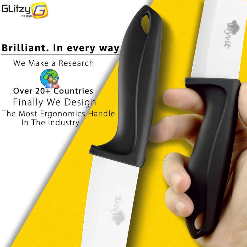 Seramik bıçak 3 4 5 6 inç mutfak şef yardımcı dilimleme soyma seramik bıçak soyma seti beyaz zirkonya bıçak pişirme kesici aracı