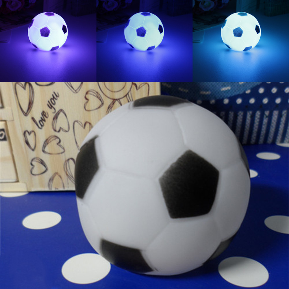 ICOCO New Top Quality Colors Changing Football LED Night Light Mood Party Christmas Home Decoration Nightlight Lamp For Kids