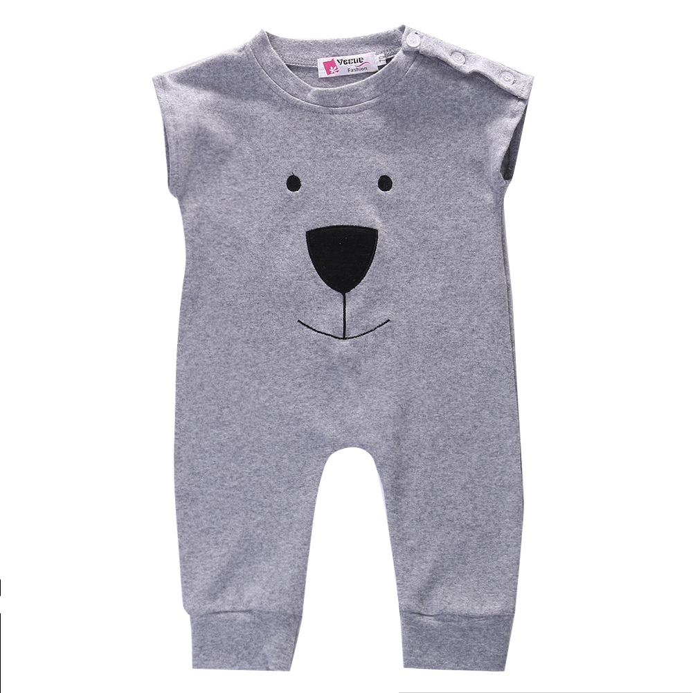 Cute Newborn Baby Girl Boy Bear Fleece Rompers Playsuit Jumpers Outfits