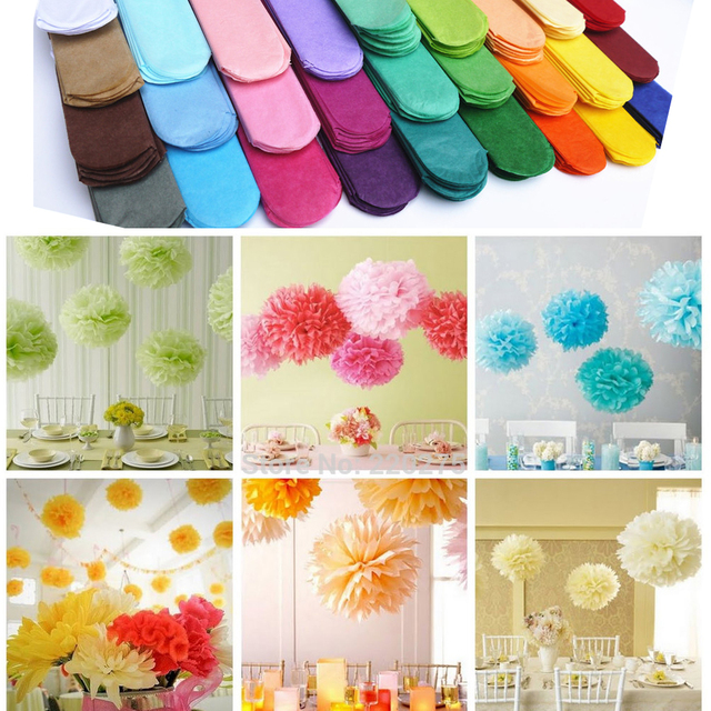 Govaz Wedding Decoration Events Accessories 20 25 30cm Pom Pom Tissue Paper Pompom Ball Party Supplies Baby Shower Birthday