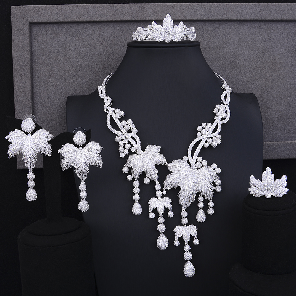 missvikki Top Popular Sterling Silver Jewelry Set Actor Dancer Bridal Stage Performance Wedding Party Accessories Drop Shipping