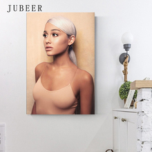 Ariana Grande Poster Sweetener Hot 2018 Pop Music Girl Star Album Silk Posters and Prints Wall Art Painting Home Decor