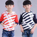 New arrival boys hoodies sports spring 2017 kids boys casual stars striped cotton hooded sweatshirts 3-8 years !