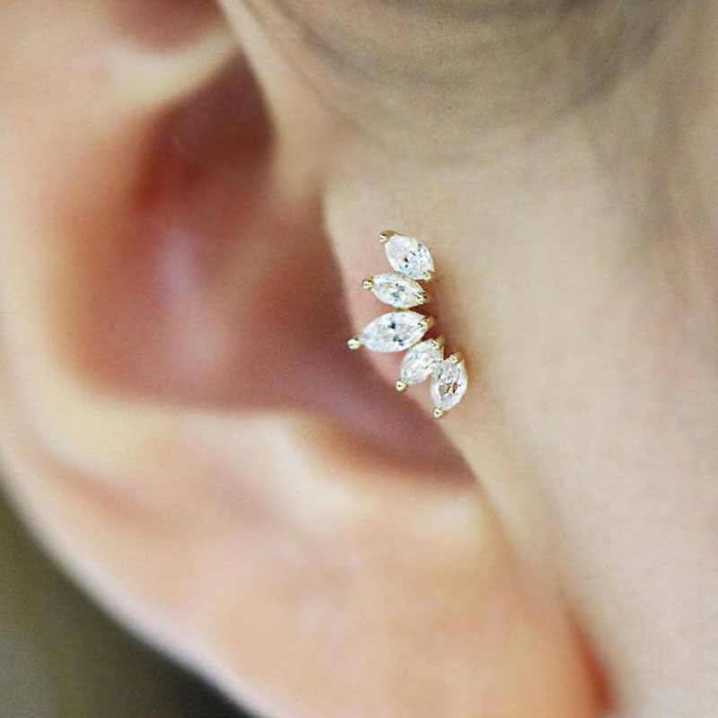 Sellsets 1Pc Cz Crown Tragus Stud Conch Piercing Helix Cartilage Earring Crystal Piercing Ear Jewelry