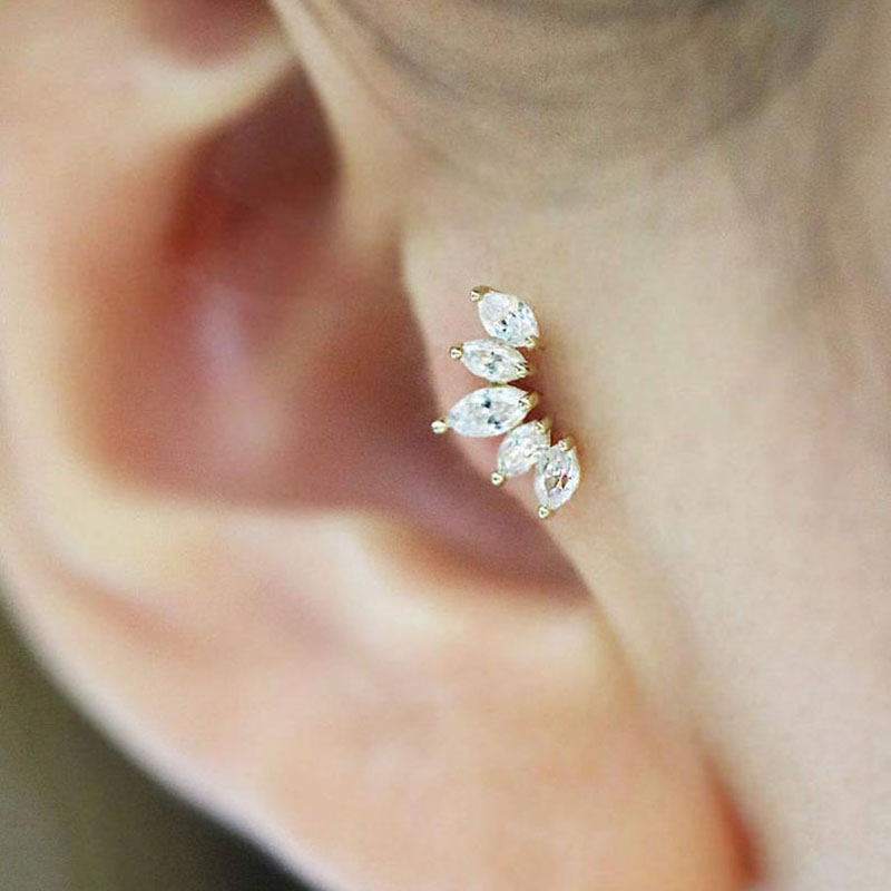 Sellsets 1pc Cz Crown Tragus Stud Conch Piercing Helix Cartilage Earring Crystal Piercing Ear Jewelry Shop The Nation