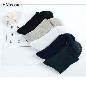 Image 3 - 6 pares primavera dos homens meias de algodão alta qualidade lote solto sólida meia 100 confortável respirável homem meia sokken preto branco cinza
