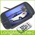 """Venda de 7 """"TFT LCD MP5 Car Espelho Retrovisor Monitor de Tela USB, SD, 2-Ch Entrada de Vídeo Para Câmera de Visão Traseira Reversa"""