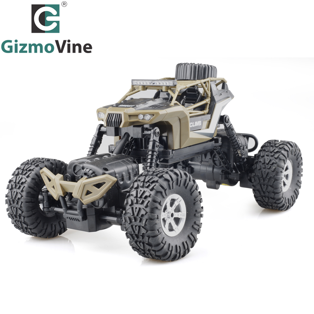 GizmoVine 2.4G RC Car Model 1:16 Scale Rock Crawler Rally Car 4WD Car Double Motors Drive Truck Remote Control Off-Road Vehicle
