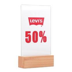 A5 Надежная производительность акриловые Пластик табличка с меню держатель рамы/настольный Дисплей стенд с толще деревянное основание
