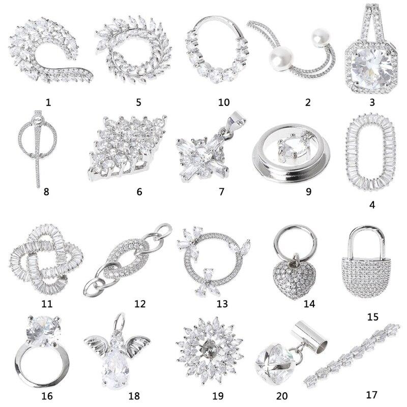 28 Styles 1Pc Wedding Bridal Rhinestone Flower Shoe Clips Removable Sandals Decoration New