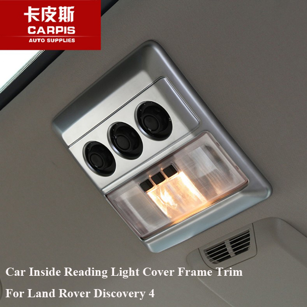Chrome Car Interior Front Rear Seat Reading Light Cover Frame Trim For Land Rover Discovery 4