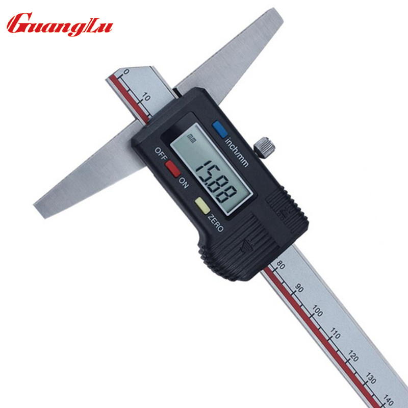 цена на GUANGLU Digital Caliper 0-150mm /0.01mm Electronic Depth Gage Stainless Steel Vernier Calipers Measuring tools
