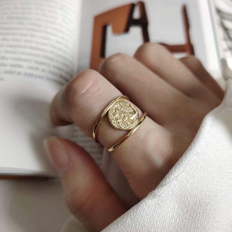 Silvology 925 Sterling Silver Mermaid Rings Gold Round Long Hair Creative Elegant Rings For Women Fashionable Jewelry Charm Gift