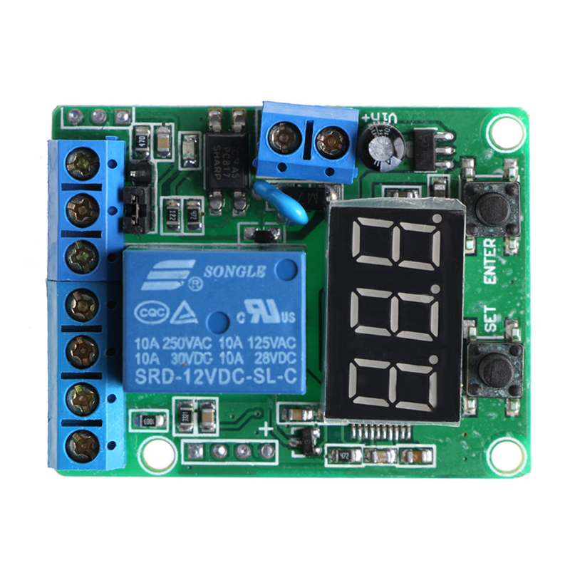 DC Relay Module Control Board 12V Switch Load Voltage protective Detection Test overcurrent protection switch module current detection board 12v 10a for dc motors short curcuid self stalled overload detection