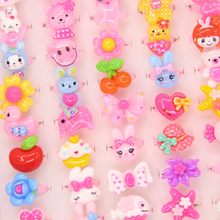ФОТО 10 pcs mix lot cute animals flower fruit assorted baby kids girl children's cartoon rings party gift