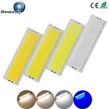 HOT SALE 120x36mm COB LED Strip 12V Light 12W 1000LM tubes Natural Warm White Blue LED FLIP Chip for DIY Car Lamp LED COB Strip