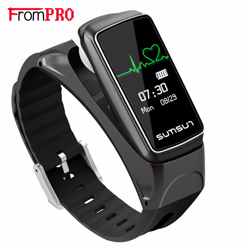 FROMPRO New OLED Smart Bracelet B7 Bluetooth Earset Style Heart Rate Monitor Call Reminder Smart Bracelet