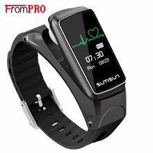 Frompro Новый OLED умный Браслет B7 Bluetooth наушники Стиль сердечного ритма Мониторы напоминание смарт-браслет для iphone Huawei
