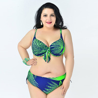 Nylon Material Female Two Piece Bikinis Swimsuit Elastic Backless Swimwear With Floral And Knots Bathing Suit