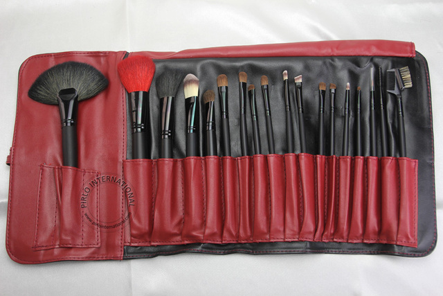 18 unids Cosmética Profesional Pinceles kit de Cepillo Del Maquillaje Facial maquillaje Tool Pouch Bag classic color de Moda a juego libre gratis