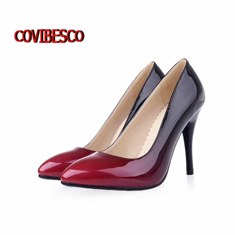 ФОТО High quality Classic Sexy Pointed Toe High Heels Women Pumps Shoes New2015 fashion Design Wedding Shoes party Pumps freeshipping