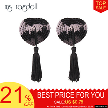 New Sex Toys for Couples Women Lingerie Sequin Tassel Breast Bra Nipple Cover Pasties Sexy Erotic Tools For Women Accessories