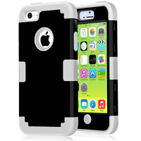 For Apple IPhone 5C Case Hybrid Shockproof Three Layer Heavy Duty Full Body Cover Case Skin
