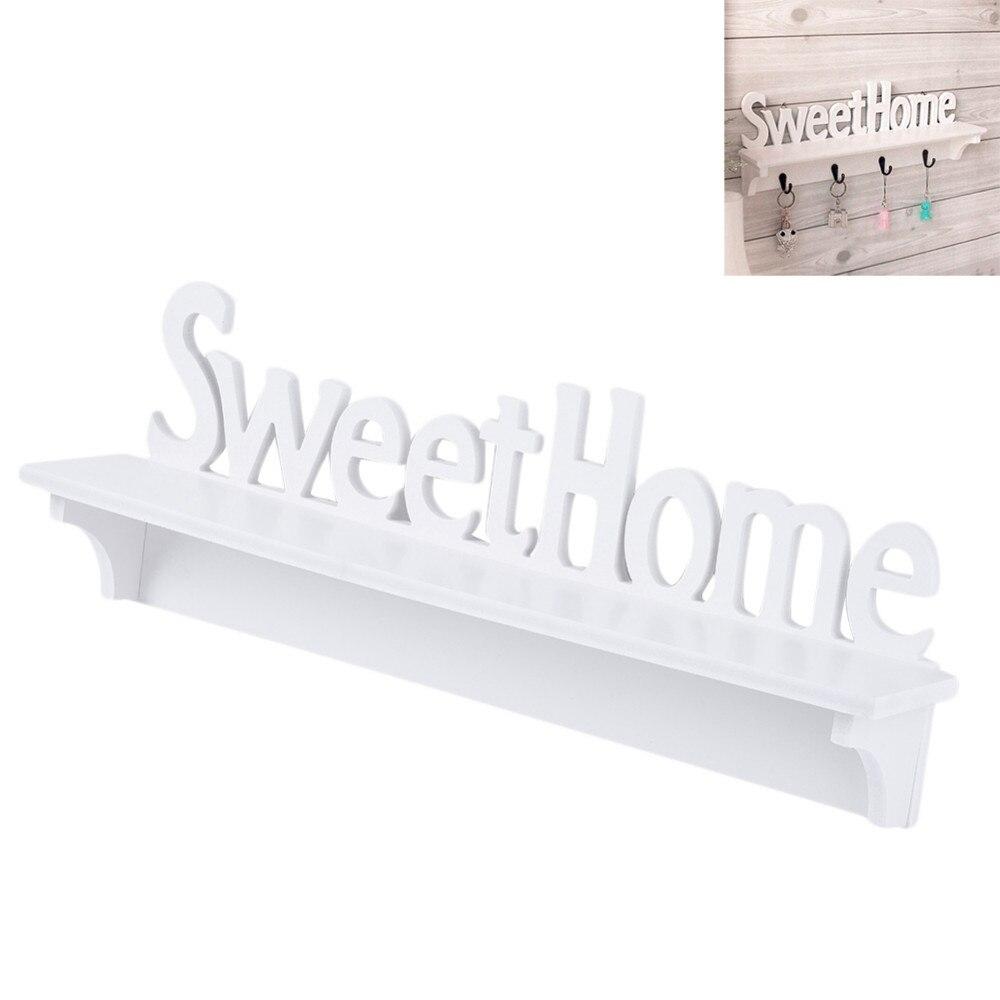 WPC Bord Wandhaken Rack Sweet Home Wand Regal Kleidung