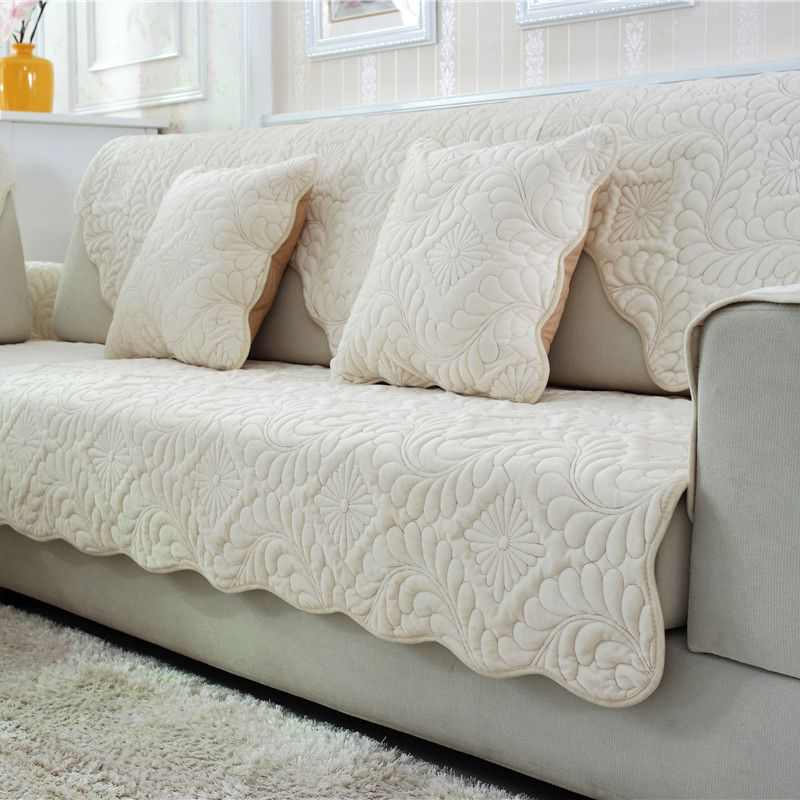 10colors sofa covers fleeced fabric knit eco friendly anti mite manta sofa slipcover - Manta sofa ...