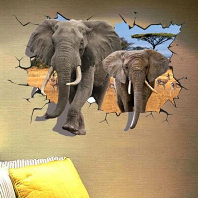 Elephant Wall Sticker Decals For Bedroom Animal Adesivo de ...