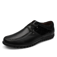 2016 fashion men's leather shoes, British wind, pure hand-made,  black, brown two Colormen leisure shoes SZ006#