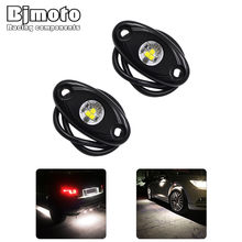 Bjmoto for Jeep car Truck ATV SUV motorcycle moto led rock light 9W light color Auto 12-24V IP67 2inch LED Rolling Rock Light(China)