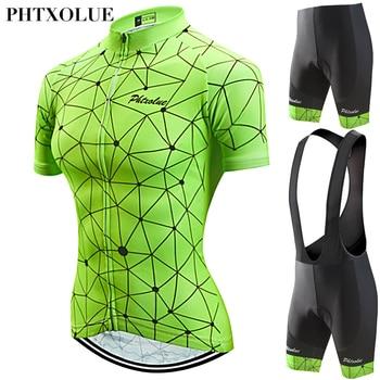 Phtxolue 2019 Conjunto Mulheres Roupas de Ciclismo Desgaste de Ciclismo Maillot ciclismo de Montanha Bicicleta Jerseys bicicleta Conjunto Kit