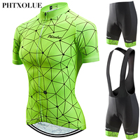 Phtxolue 2019 Cycling Set Women Cycling Clothing Wear Maillot Ciclismo Mountain Bike Bicycle Jerseys Set Kit