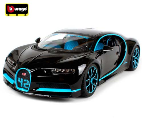 New Vehicles 2017 >> Us 57 01 17 Off New Arrival Bburago 1 18 2017 Bugatti Chiron Sports Car Black Diecast Model Car Toy New In Box Free Shipping In Diecasts Toy