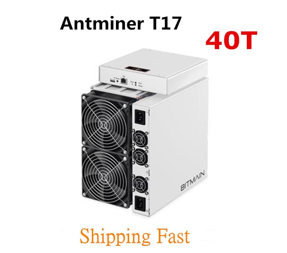 BITMAIN plus récent Asic BTC BCH mineur AntMiner T17 40TH/S avec PSU mieux que S9 S11 T15 S15 S17 S17 Pro Z11 WhatsMiner M3 M10 M20S
