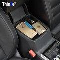 Para vw volkswagen passat b8 2016 bandeja titular organizador do carro recipiente de armazenamento caixa de apoio de braço central, acessórios estilo do carro
