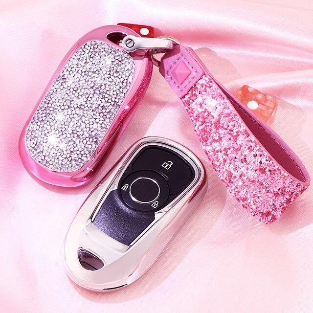 الاصطناعي ميدالية مفاتيح كريستال حافظة مفتاح غطاء واقية شل حامل ل أوبل أسترا بويك إنكور ENVISION جديد لاكروس فتاة