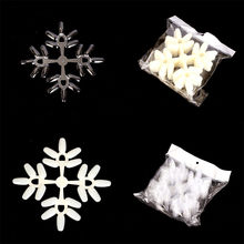 10pcs/1Bag Snowflake Natural Display Tool Stand Tips Nail Polish Color Card Template Sets se15(China)