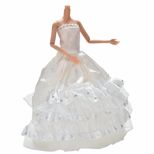 Online Shop Fashion 3 Layers Lace Dress For Barbies Floor Length ...