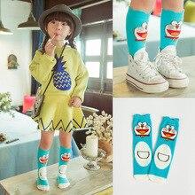 Детские длинные носки милые однотонные носки до колена для малышей теплые хлопковые носки для девочек, гольфы высокого качества