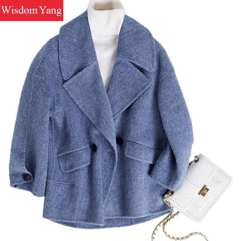 16416e33420dd Manteau D hiver khaki Femme Coat Bureau Coat Coat Bleu De Vestes Kaki 2018  Pardessus Femmes ...