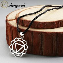 CHENGXUN Vintage Spiritual Necklace Norse Vikings Tibet Mandala Pendant Necklace Rope Chain Original Amulet Men Women Jewelry(China)