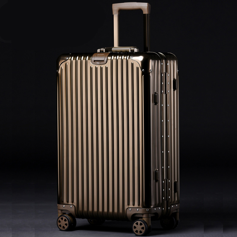 20'24'26'29'Aluminum Suitcase Rolling Luggage Boarding Spinner Wheel Suitcase Trolley Luggage mala de viage Carry on Luggage