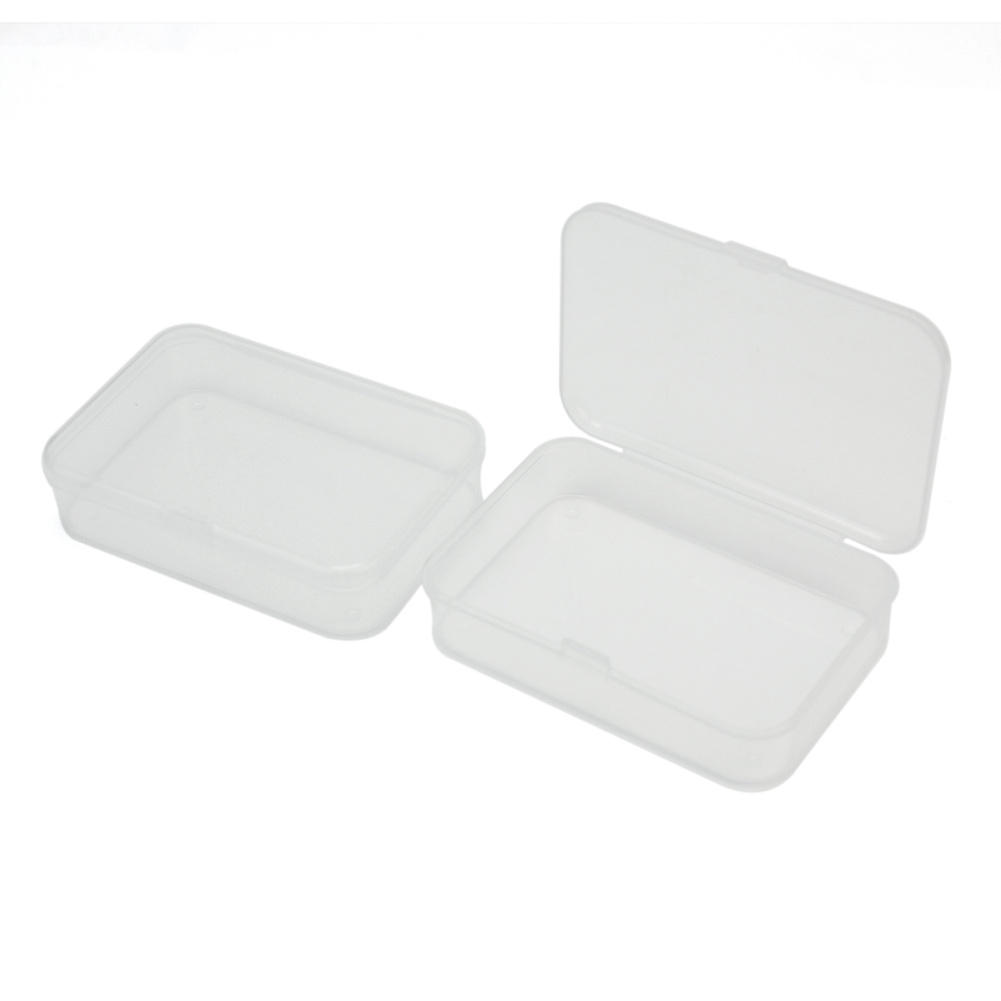 Craft containers with lids - 2x Clear Storage Box Plastic Container Organizer Make Up Case For Photograph Beads Craft Items Toy