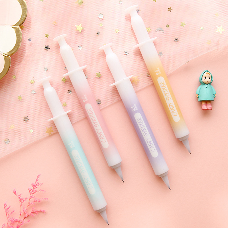 1 Pcs Candy Colors Needle Tube Shape 0.5mm Mechanical Pencil Kawaii Students Learning Office Drawing Pencil Stationery
