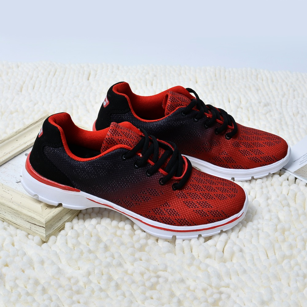 QANSI New Gradually Changing Color Women Running Shoes Spring Autumn Breathable Shoes Outdoor Sport Sneakers For Female 1678W 13