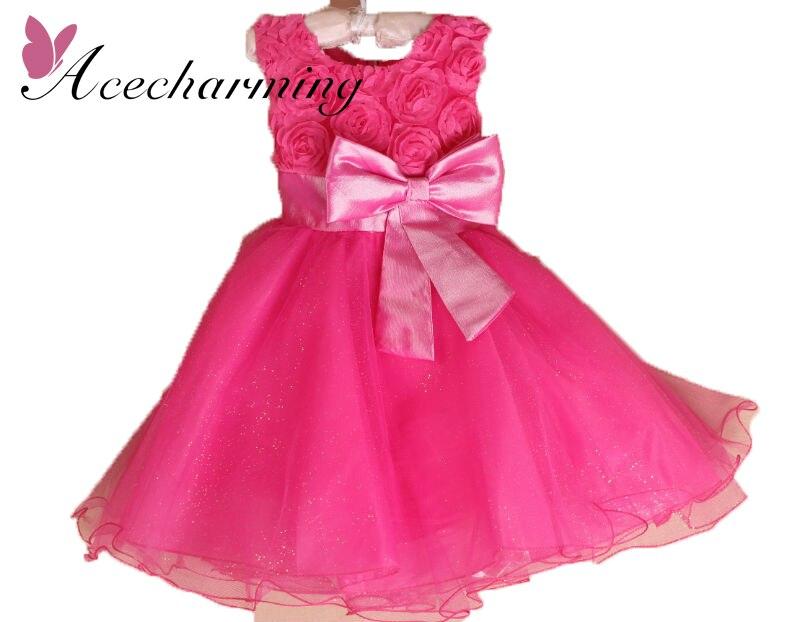 2017 summer clothes robe fille enfant princess sleeveless rose dress girls dresses for kids wedding birthday Party free shipping весна милана 5 со звуком в2203 о