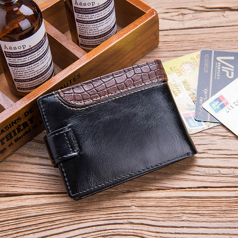 HTB1KPn9u1uSBuNjSsplq6ze8pXaS - Baellerry Leather Vintage Men Wallets Coin Pocket Hasp Small Wallet Men Purse Card Holder Male Clutch Money Bag Carteira W066